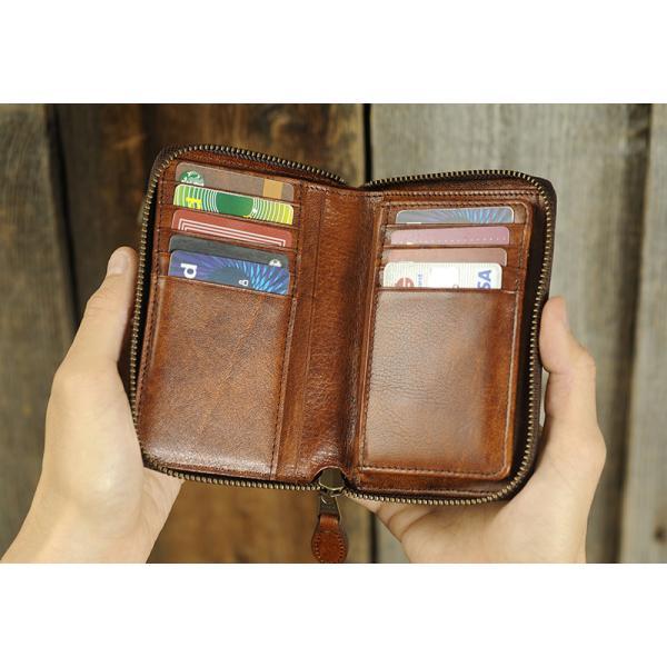 青木鞄 二つ折り財布 ラウンドファスナー Lugard G-3  メンズ 本革 レザー 牛革 小銭入れあり 大きい|t-style|03