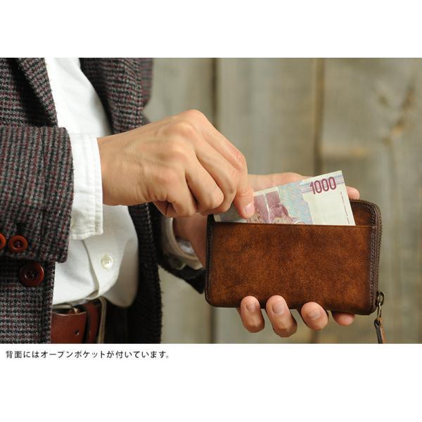 青木鞄 二つ折り財布 ラウンドファスナー Lugard G-3  メンズ 本革 レザー 牛革 小銭入れあり 大きい|t-style|05