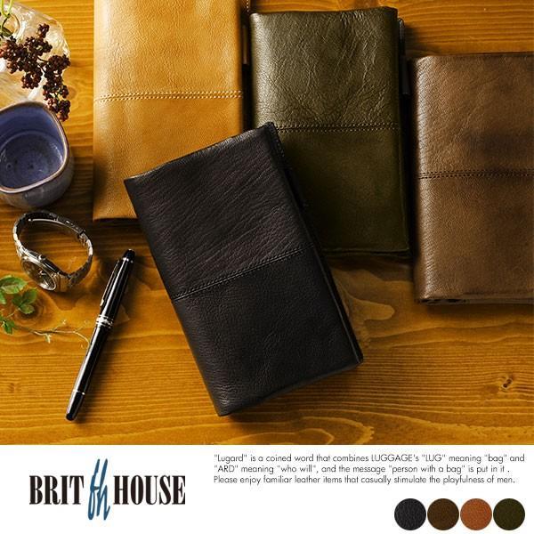 BRIT HOUSE ヤギ革システム手帳 バイブルサイズ 本革 日本製 メンズ TG-1015