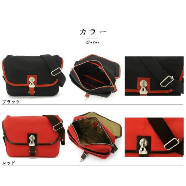 豊岡鞄 直帆布 ミニショルダーバッグ RED COLLECTION t-style 12