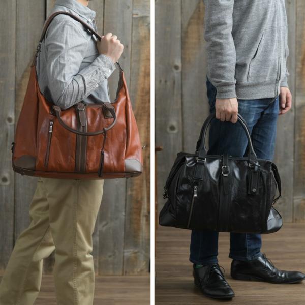 豊岡鞄 レザーボストンバッグ メンズ 日本製 本革 Ambition BK15-106 t-style 02