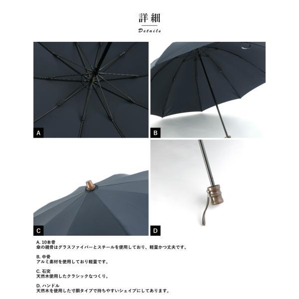小宮商店 折りたたみ傘 日本製 メンズ ミラトーレ 超撥水生地 60cm 10本骨 高級 ラッピング 可 t-style 09