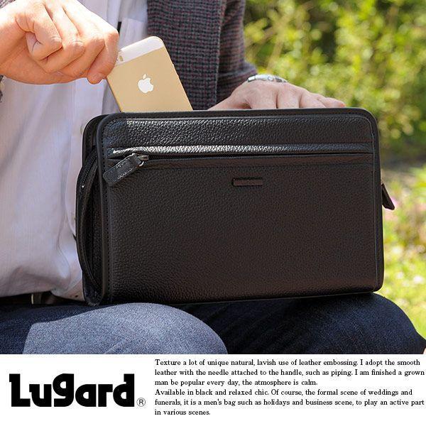 青木鞄 Lugard 本革セカンドバッグ メンズ 日本製 レザー フォーマル|t-style