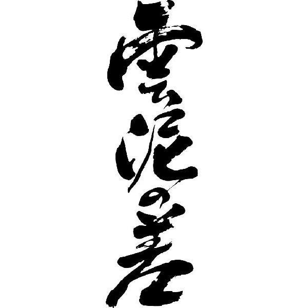 """雲泥の差(縦書)""""書道家が書くかっこいい漢字Tシャツ :t-kanji-koto ..."""