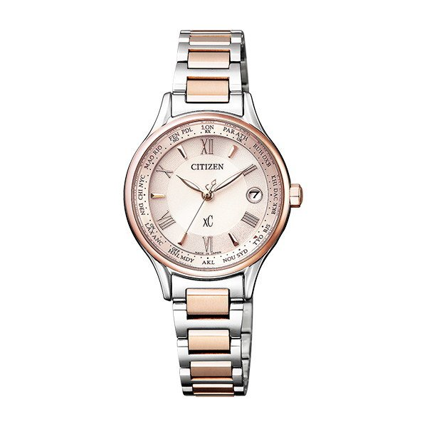 CITIZEN XC シチズン クロスシー 電波時計 エコ・ドライブ ハッピーフライト ティタニアライン レディース腕時計 EC1165-51W