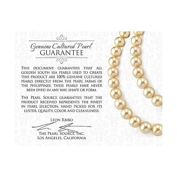 ゴールデン サウス シー Cultured パール & ダイヤモンド エバ Earrings in 18K ゴールド(海外取寄せ品)
