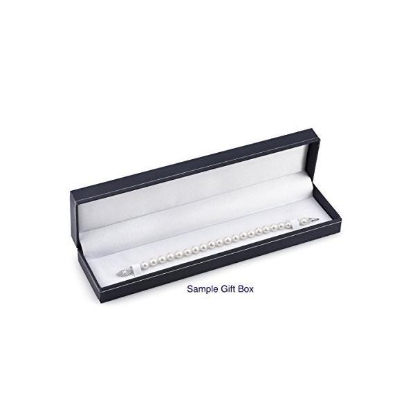 14K ゴールド 9-10mm ラウンド ホワイト Freshwater Cultured パール ブレスレット - AAA クオリ(海外取寄せ品)