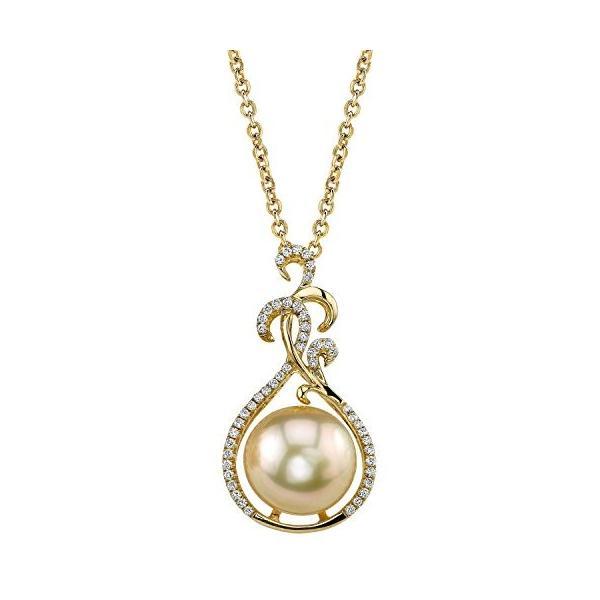 ゴールデン サウス シー Cultured パール & ダイヤモンド テイラー ペンダント ネックレス in 18K ゴールド(海外取寄せ品)