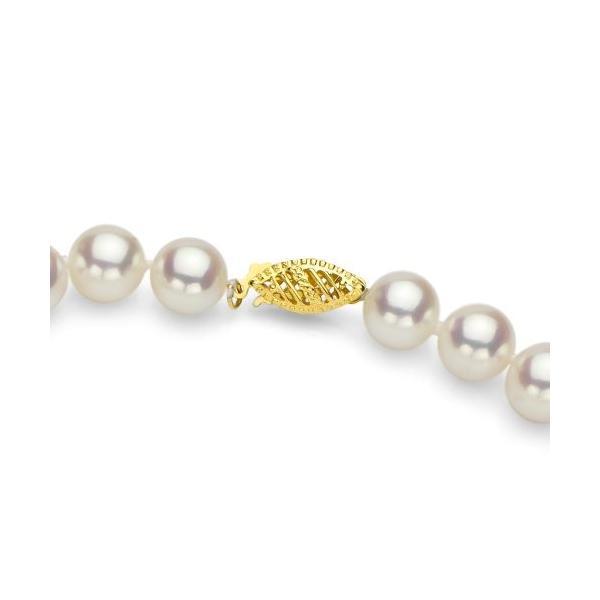 14k イエロー ゴールド 6.5-7mm AAA ハンド-picked ホワイト Akoya Cultured パール ネックレス(海外取寄せ品)