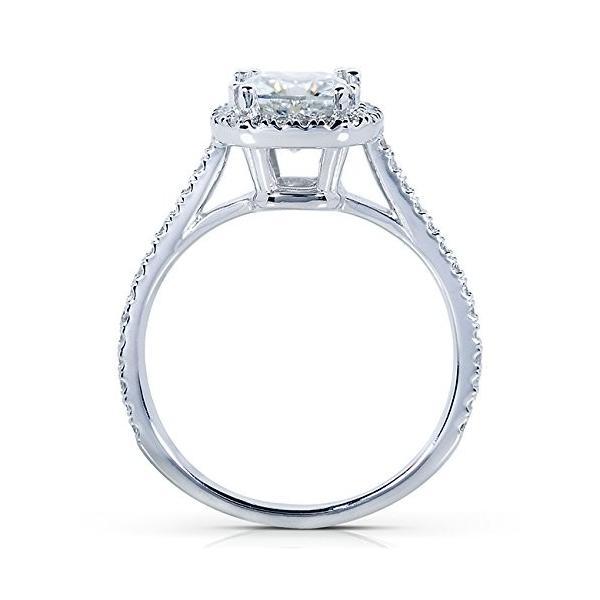 クッション-カット Moissanite & ダイヤモンド Engagement リング 1 1/3 Carat (ctw) in (海外取寄せ品)
