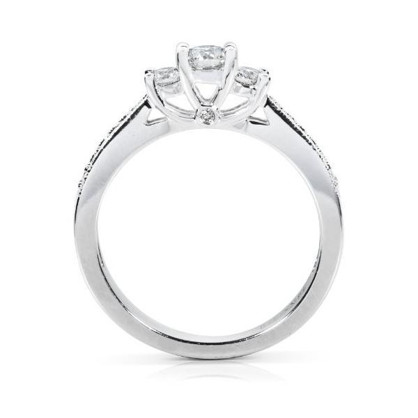 1/3ct TW Three-ストーン ラウンド ブリリアント ダイヤモンド Engagement リング in 14Kt ゴールド(海外取寄せ品)