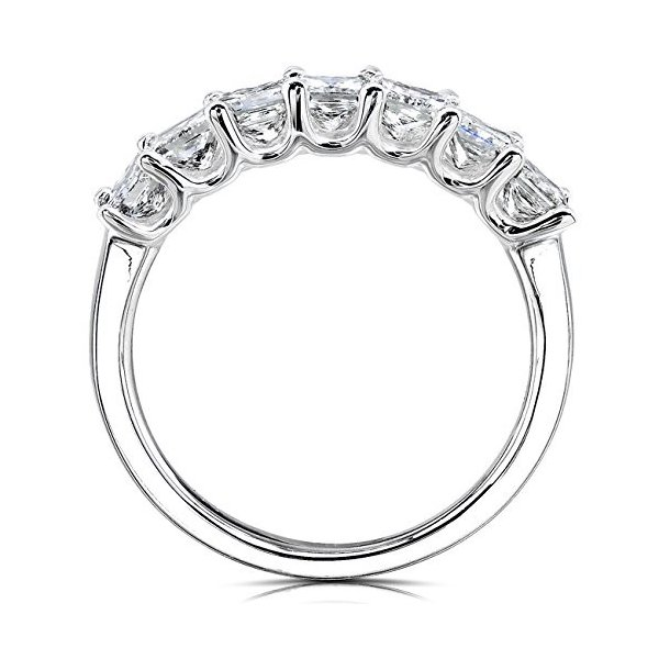 ダイヤモンド ウエディング バンド 1 carat (ctw) in 14K ホワイト ゴールド(海外取寄せ品)