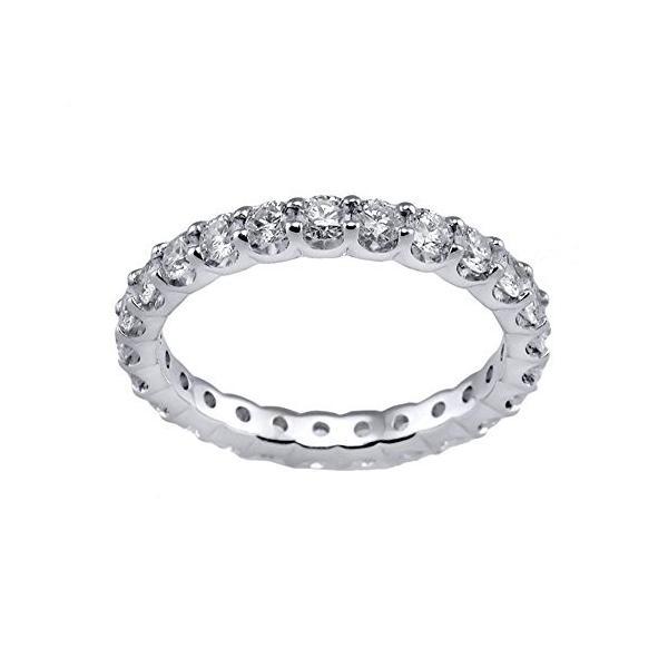 ダイヤモンド リング,, 14K ホワイト ゴールド ダイヤモンド ウエディング アニバーサリー バンド リング(海外取寄せ品)