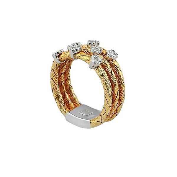 ダイヤモンド リング, 18Kt イエロー ゴールド ダイヤモンド リング(海外取寄せ品)