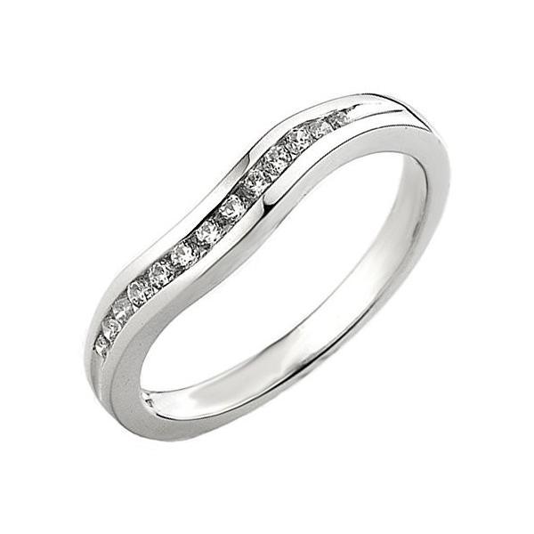 0.20 Carat (ctw) 14K ホワイト ゴールド ラウンド ダイヤモンド レディース アニバーサリー ウエディング バン(海外取寄せ品)