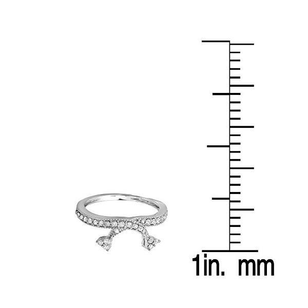 0.40 Carat (ctw) 18K ホワイト ゴールド ラウンド ダイヤモンド レディース アニバーサリー ウエディング En(海外取寄せ品)|t2mart|02