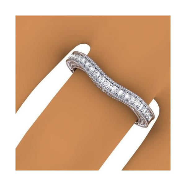 0.25 Carat (ctw) 14K ホワイト ゴールド ラウンド カット ダイヤモンド レディース Millgrain アニバ(海外取寄せ品)