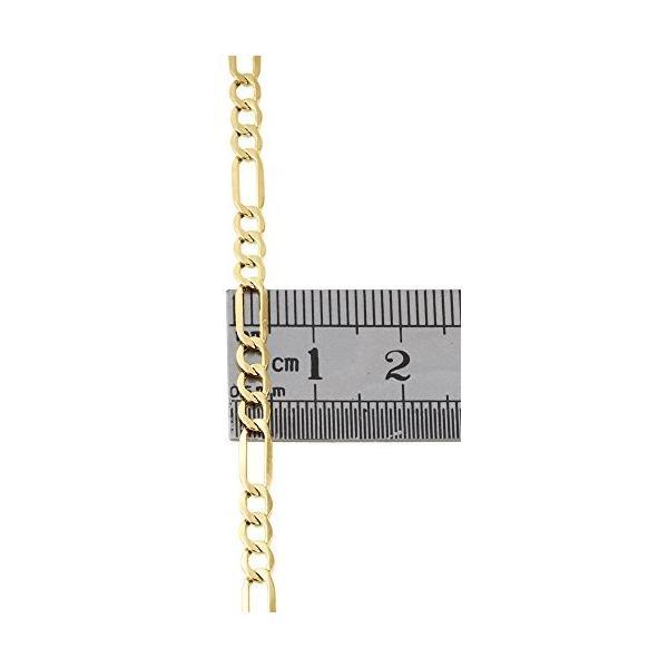 10K イエロー ゴールド 4.0mm Figaro チェーン ネックレス ロブスター クラスプ, 30 インチ(海外取寄せ品)