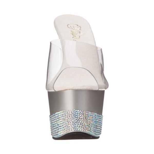 Pleaser レディース Adore-701-3 プラットフォーム Sandal,Clear/Silver,8 M US(海外取寄せ品)