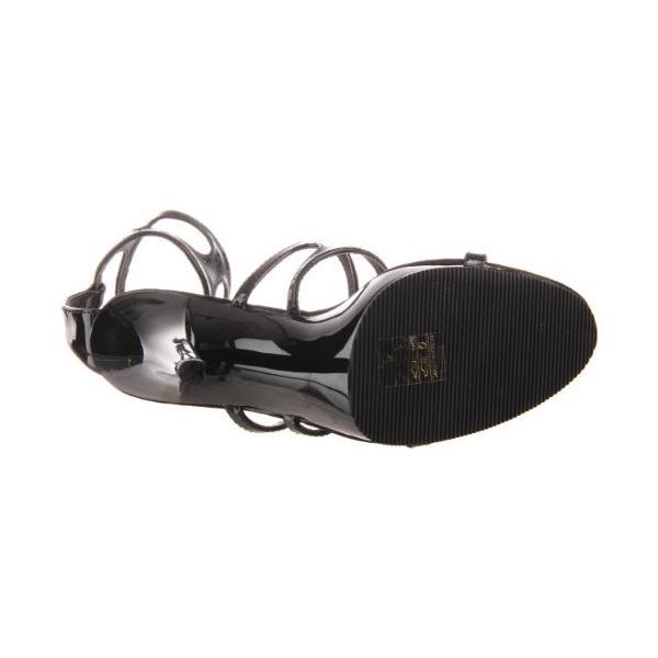 Pleaser レディース Flair-458/B/M プラットフォーム Sandal,ブラック パテント,9 M US(海外取寄せ品)
