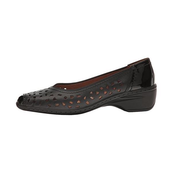 ara レディース Rashida スリップ-on Loafer, ブラック Calf/Patent, 7.5 M US(海外取寄せ品)