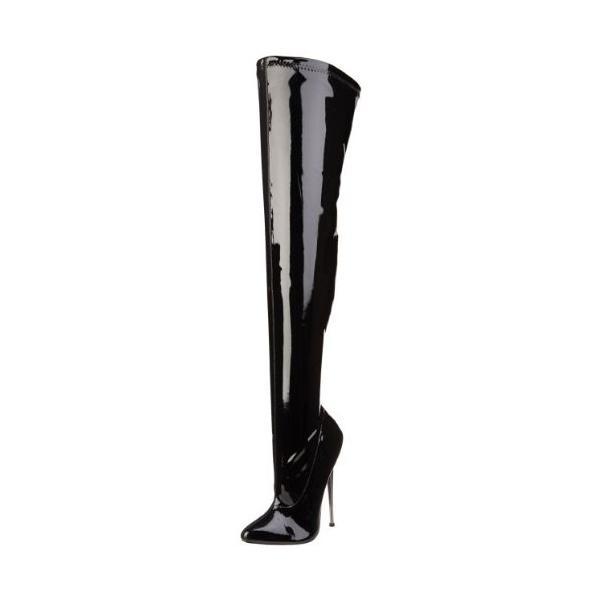 Pleaser レディース Dagger-3000 ブーツ,ブラック パテント,13 M US(海外取寄せ品)