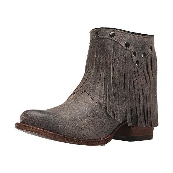 Corral レディース Fringe Ankle ブーツ ラウンド Toe グレー 8.5 M US(海外取寄せ品)
