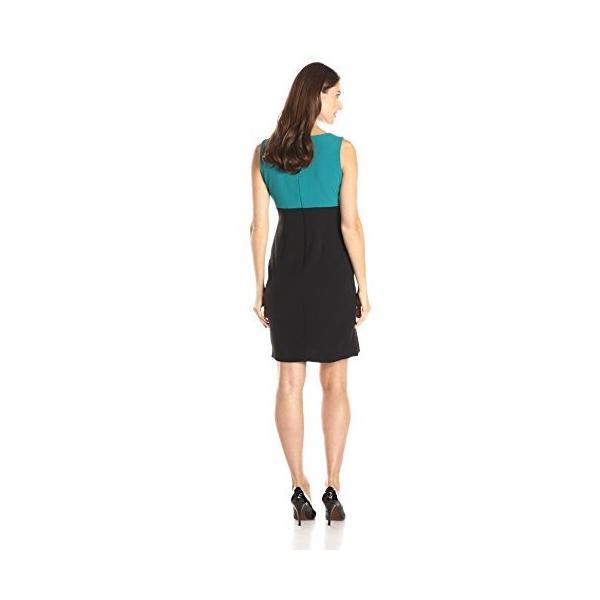 Danny & Nicole レディース Two ピース 3/4 ジャケット and Twofer ドレス, ブラック/Peacoc(海外取寄せ品)