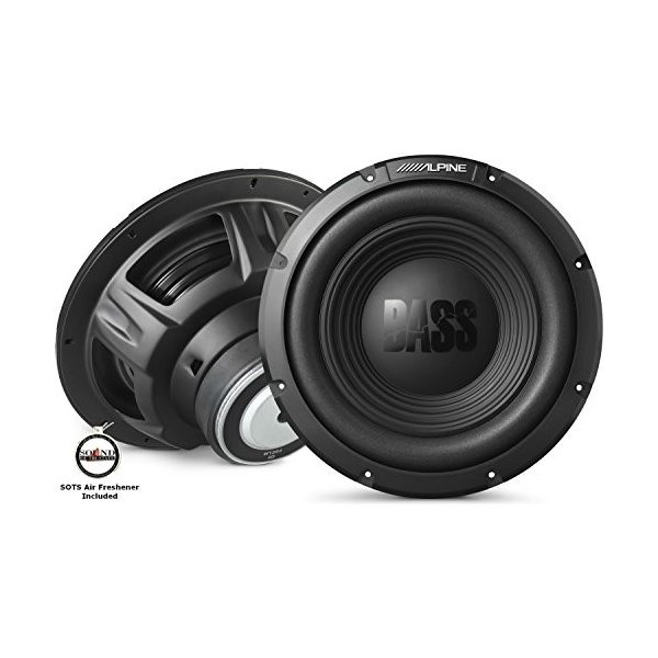 "(2 シングル / 1 Pair) of Alpine W12S4 BassLine Series 12"" 4-ohm subwoo(海外取寄せ品)"