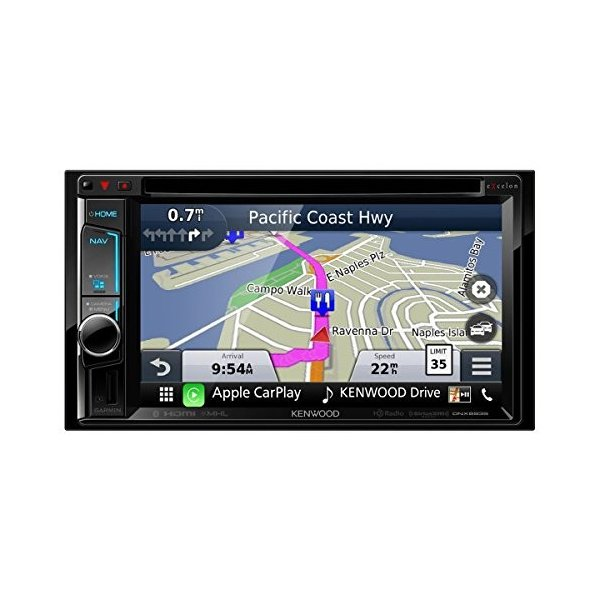 """Kenwood DNX693S 6.2"""" eXcelon Double-DIN AV ナビゲーション System With ブルー(海外取寄せ品)"""