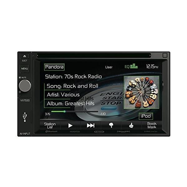 "Jensen VX7020 2 DIN マルチメディア レシーバ, 6.2"" タッチ スクリーン with ブルートゥース & ビル(海外取寄せ品)"