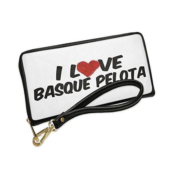 ウォレット Clutch I ラブ Basque Pelota with リムーバブル Wristlet ストラップ Neonblo(海外取寄せ品)|t2mart