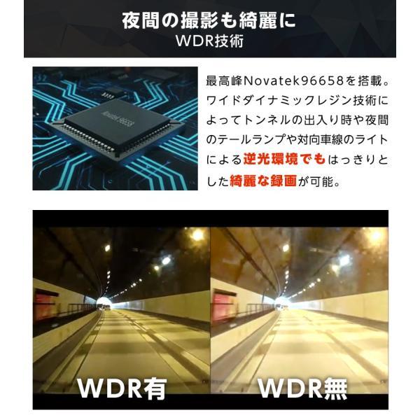 ドライブレコーダー 前後 ドラレコ 1080P フルHD 2.0インチ 170°広視野角 前後2カメラ 同時録画 360°回転レンズ HDR機能 駐車監視 動体検知 YAZACO Y880 ta-creative 10