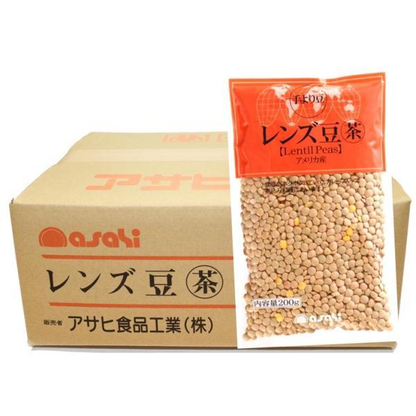 流通革命 レンズ豆(皮つき) 200g×20袋×10ケース  【輸入豆 海外豆 業務用販売 BTOB 小売用 アサヒ食品工業】