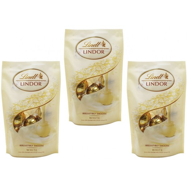 リンツ(Lindt) リンドール ホワイトパック 60g×3袋   【個包装 六甲バター QBB スイス 高級チョコレート トリュフチョコ】