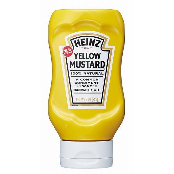 ハインツ イエローマスタード(逆さボトル) 226g×12本   【HEINZ 調味料 mustard 洋風辛子 ケース販売 業務用】
