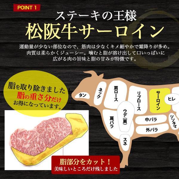 A5 松阪牛 サーロイン ステーキ 180g 国産|tabemore|03