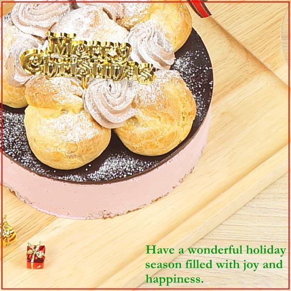 クリスマスケーキ 2019 予約 送料無料 プロフィトロールいちごムースケーキ プレゼント お取り寄せ ギフト|taberun|02