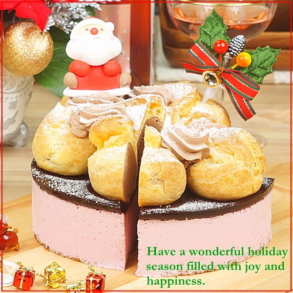 クリスマスケーキ 2019 予約 送料無料 プロフィトロールいちごムースケーキ プレゼント お取り寄せ ギフト|taberun|03