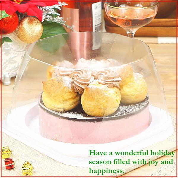 クリスマスケーキ 2019 予約 送料無料 プロフィトロールいちごムースケーキ プレゼント お取り寄せ ギフト|taberun|05