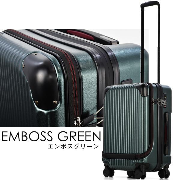 スーツケース 機内持ち込み Sサイズ フロントオープン ファスナー ビジネス キャリーバッグ キャリーケース フロントポケット tabi 04