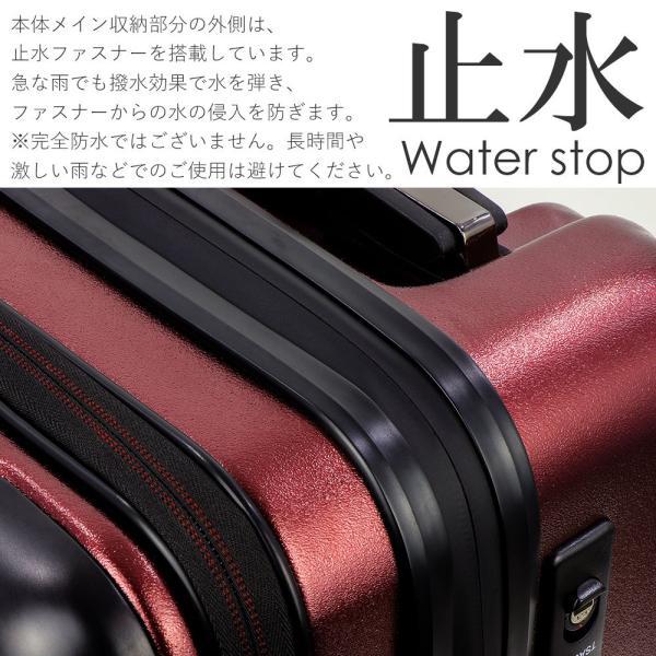 スーツケース 機内持ち込み Sサイズ フロントオープン ファスナー ビジネス キャリーバッグ キャリーケース フロントポケット tabi 08