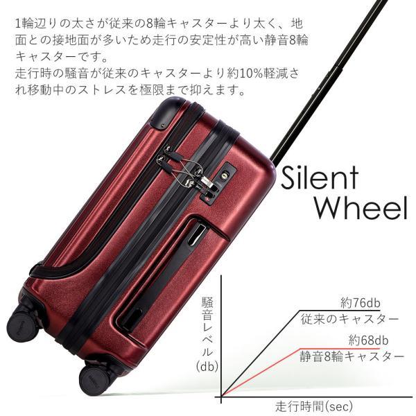 スーツケース 機内持ち込み Sサイズ フロントオープン ファスナー ビジネス キャリーバッグ キャリーケース フロントポケット tabi 10