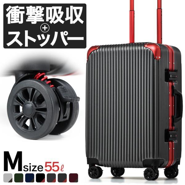スーツケース mサイズ 中型 アルミ フレーム 軽量 静音8輪キャスター ブレーキ キャリーケース キャリーバッグ 旅行 国内 海外 カモフラ ブランド おしゃれ