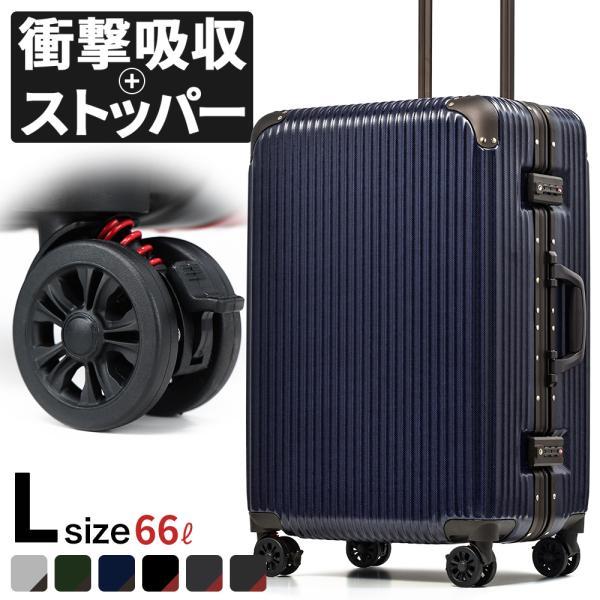 スーツケース Lサイズ ストッパー アルミ フレーム 大型 軽量 丈夫 超静音 キャリーケース キャリーバッグ 旅行 おしゃれ おすすめ ブランド プロエボ