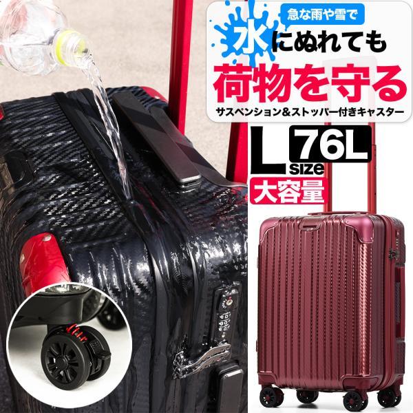 スーツケース 大型 LLサイズ Lサイズ 大容量 受託無料サイズ 超軽量 8輪キャスター アルミ風 キャリーバッグ tabi