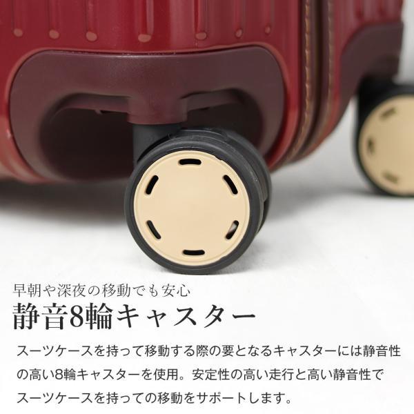 スーツケース アウトレット 安い 訳あり Mサイズ 中型 ファスナー 静音 8輪キャスター ダイヤル式TSA キャリーバッグ キャリーケース おしゃれ tabi 05