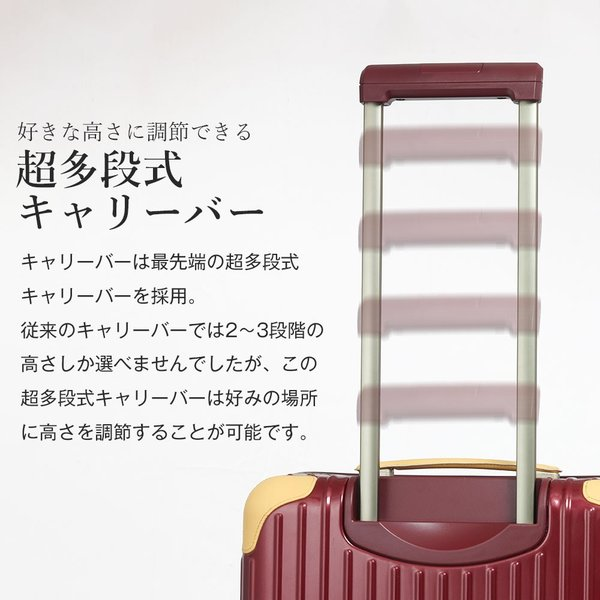 スーツケース アウトレット 安い 訳あり Mサイズ 中型 ファスナー 静音 8輪キャスター ダイヤル式TSA キャリーバッグ キャリーケース おしゃれ tabi 07