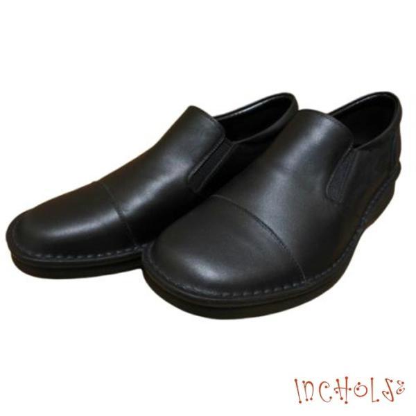 【インコルジェ M1002 ブラック】メンズインコルジェ 脱ぎ履き楽々スリッポンシューズ tabikutsuya