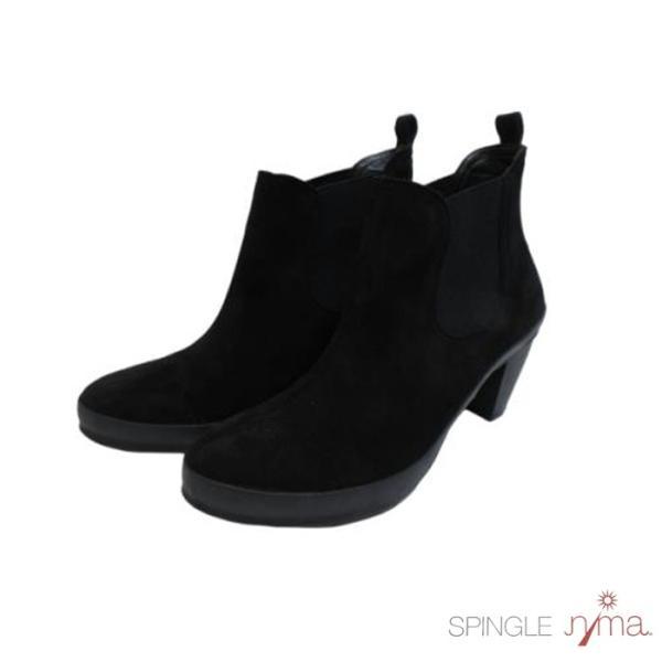 【SPINGLE NIMA NIMA729 ブラック】本革サイドゴアブーティ|tabikutsuya